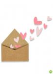 Sizzix Matrices de découpe thinlits Mini enveloppe avec cœurs romantiques