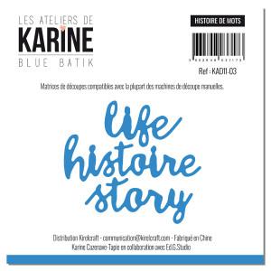 Blue Batik Matrices de découpe Histoires de mots