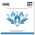 Blue Batik Matrice de découpe Lotus
