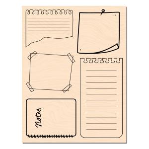 Blue Batik Tampon bois Notes