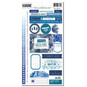 Blue Batik Autocollants 15x30cm