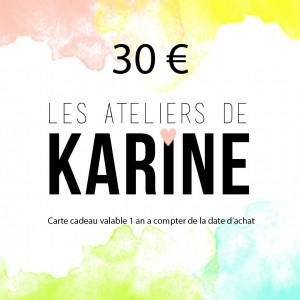 Carte Cadeau 30 €