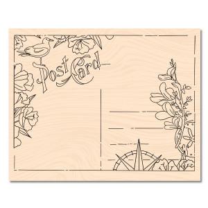 A contre Courant Bois Carte Postale
