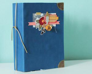 Tutoriel Mini Album Automne cuir