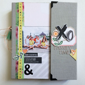 Tutoriel mini album Happy Family et sa page 30x30cm