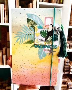 Tutoriel mini album Vacances acidulées