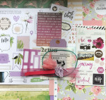 Kit Mini Album Lavande et son tutoriel