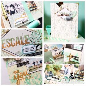 Kit Atelier Mini Album Escale MINT