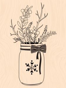 Mint, Choco & Gourmandises-Tampon bois Winter Jar