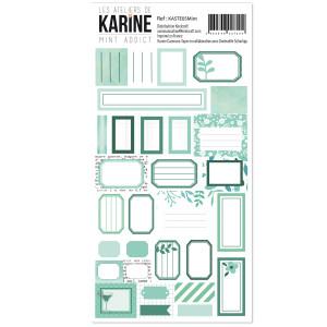 Nomade-Mint addict-Autocollants 30 étiquettes