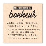 Version Originale Tampon bois Recette bonheur