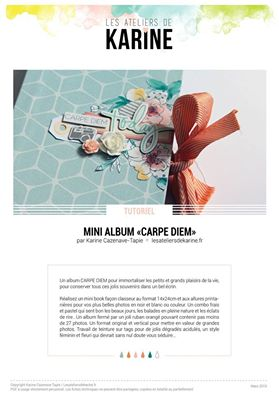Extraits de mon mini album CARPE DIEM - Les Ateliers de Karine bfc08056d853a