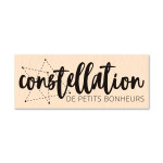 Carte Blanche Tampon Bois Constellation