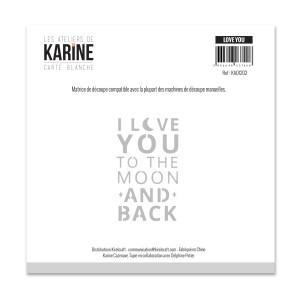 Carte Blanche Matrice de découpe Love You...