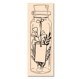 Cahier d'Automne Tampon Bois Jolie bouteille