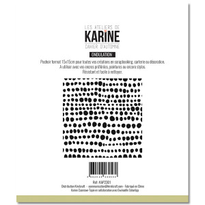 Cahier d'Automne Pochoir Ondulation