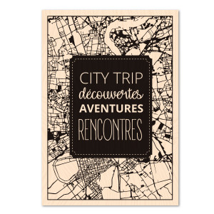 Correspondances Tampon bois City Trip