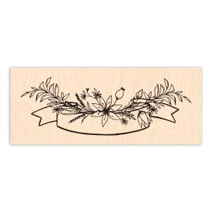Esprit Bohème Bois Bannière Florale