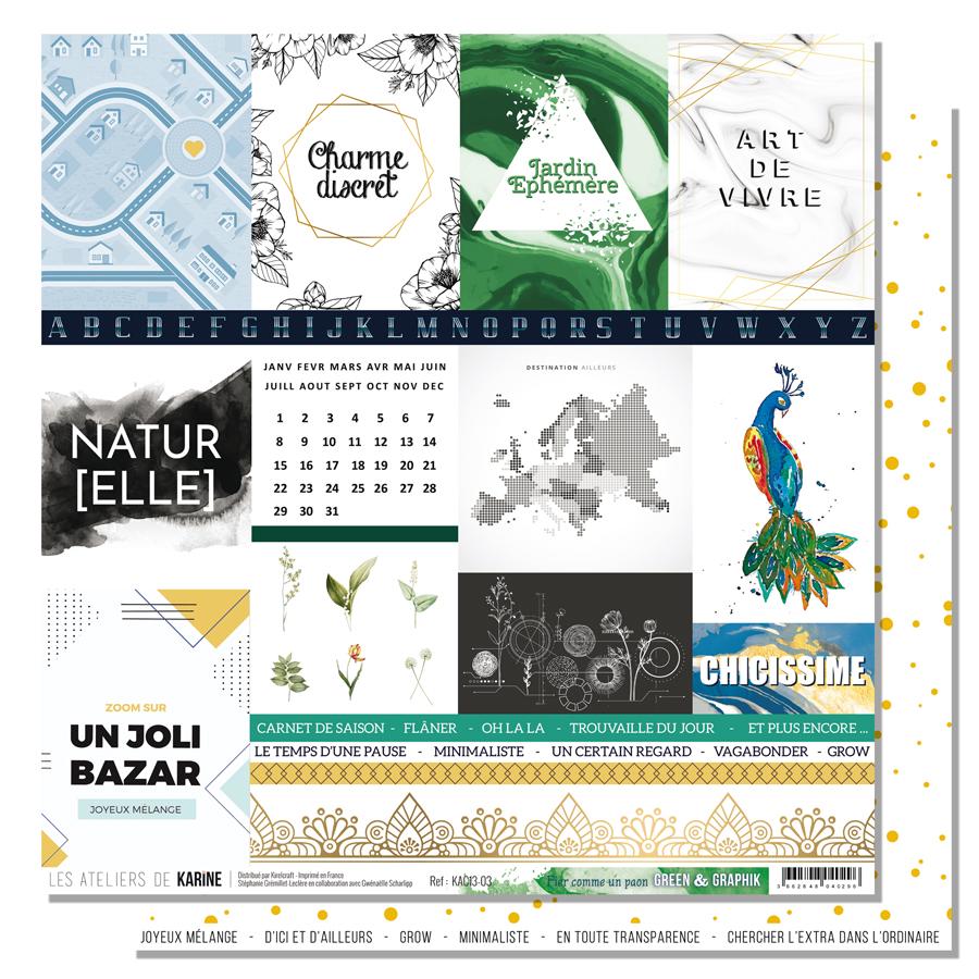 Green&Graphik - papier fier comme un paon - web
