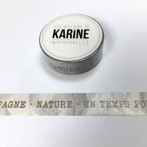 Intemporelle Masking Tape Textes Kraft