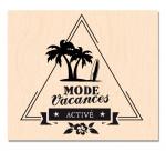 RDV au Soleil-Tampon bois Mode Vacances