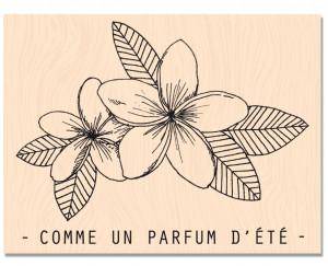 RDV au Soleil-Tampon bois Parfum d'été