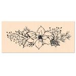 Woodland Tampon bois Fleur de Poinsettia