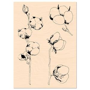Woodland Tampon Bois Fleur de coton