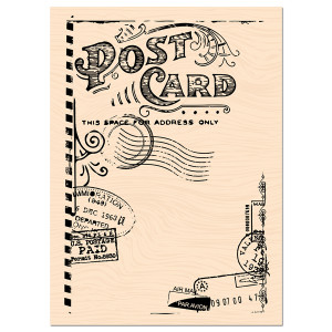 Carnet de Route Tampon Bois Post Card