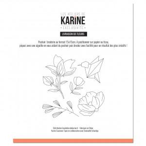 Pochoir Broderie Exclusif Livraison de Fleurs