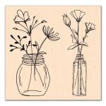 Se mettre au vert-Tampon bois Jolis Bouquets
