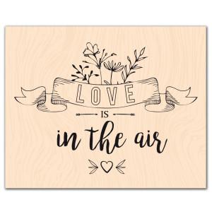 Se mettre au vert-Tampon bois Love is in the air