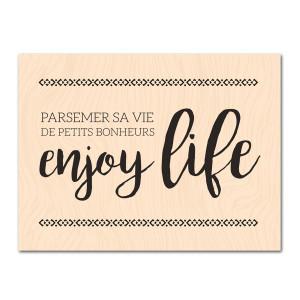 Eté Indien-Tampon bois Enjoy Life