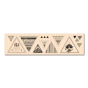Eté Indien-Tampon bois Triangles graphiques