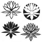 Pochoir fleurs de Lotus format 15x15cm