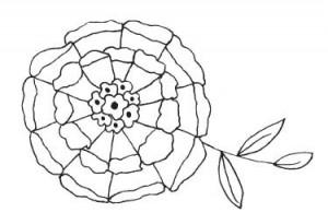 Tampon bois Delicate Blossom