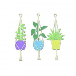 Sizzix Matrices de découpe plantes suspendues