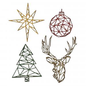 Sizzix Matrices de découpe Geo Christmas