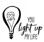 Tampon bois You light up my Life