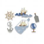 Sizzix Matrices de découpe Bouteille à la mer
