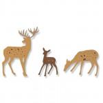 Sizzix Matrices de découpe Cerfs des bois