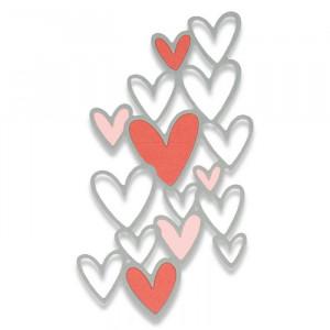 Sizzix Matrice de découpe Coeurs