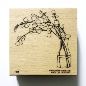 Tampon bois AR Eucalyptus et son vase