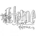 Tampon Spellbinders Gomme rouge Home Sweet Home