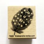 Tampon bois AR jolie plume