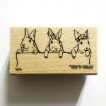 Tampon bois AR Lapins par 3