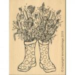 Tampon bois L'Encre&l'image Bouquet de Printemps