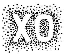 Tampon bois Confetti XO