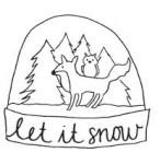 Tampon bois Globe des neiges