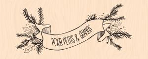 Mint, Choco & Gourmandises-Tampon bois Bannière hivernale